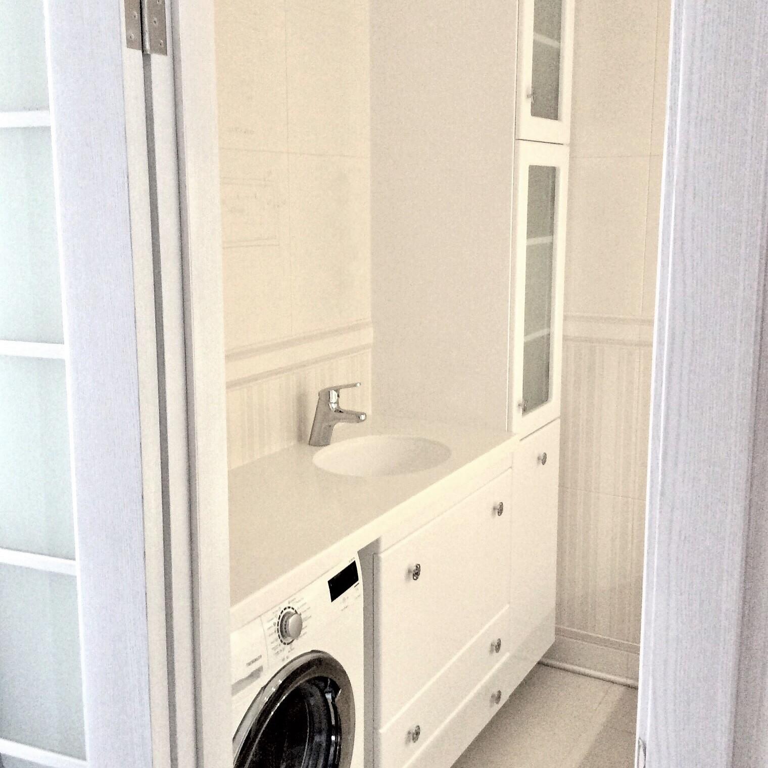 Ванная мебель на заказ - тумба под стиральную машину