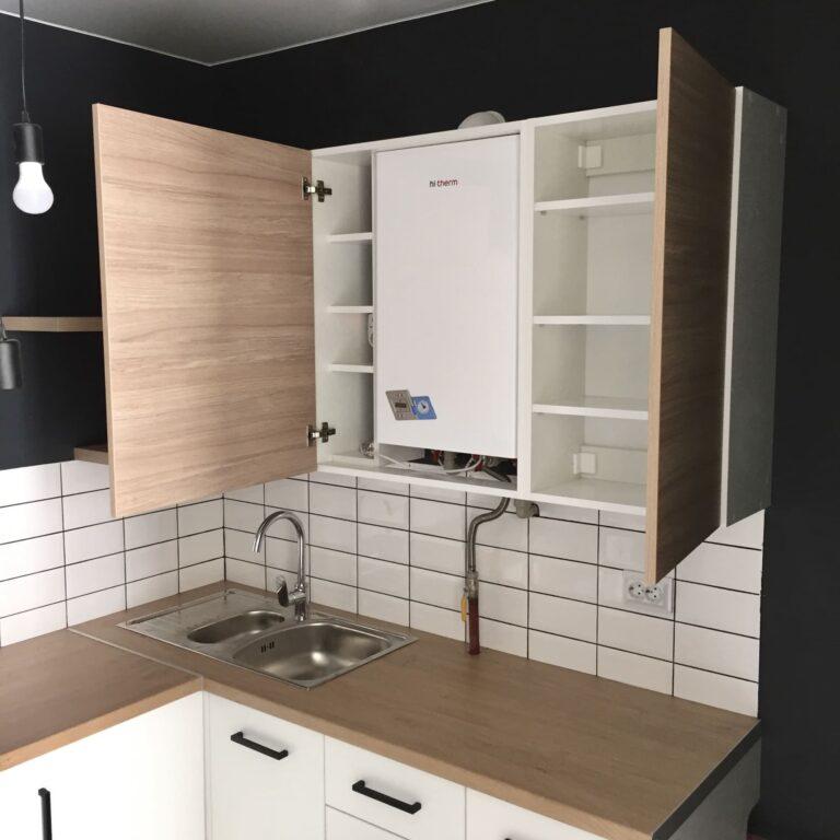 Кухня в стиле LOFT для съемной квартиры