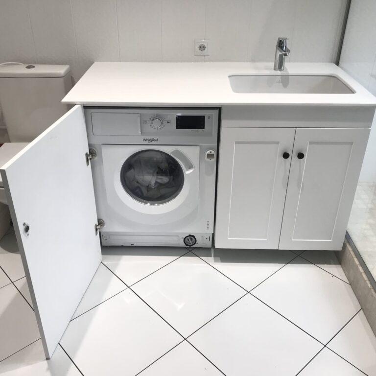 Тумба со стиральной машинкой